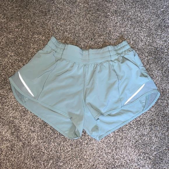 Light teal Lululemon shorts